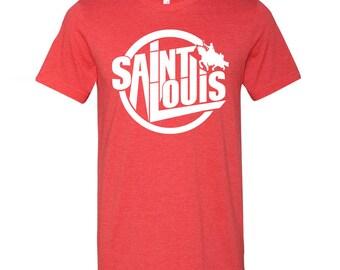 Saint Louis Statue Circle Tee, St Louis T-Shirt, STL, STL Shirt, St Louis Shirt, Saint Louis Shirt, St Louis Statue, Benton Park Prints