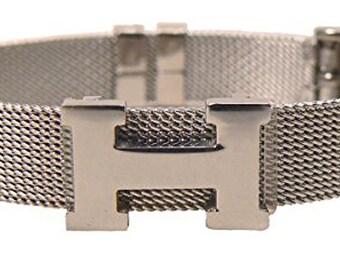 HM0102 H Logo Mesh Bracelet stainless steel