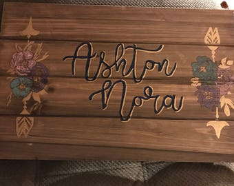Customizable nursery name personalized sign