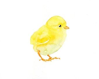 CHICK- 10x8inch- print-Art Print-animal Watercolor Print-nursery decor-children art-home decor