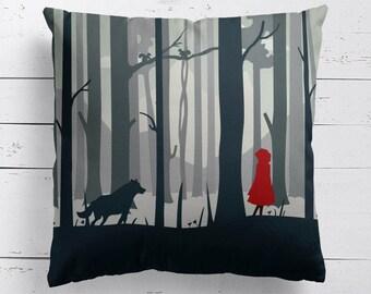 Little Red Riding Hood Fairy Tale Cushion, Fairy Tale Pillow, Fairy Tale Cushion