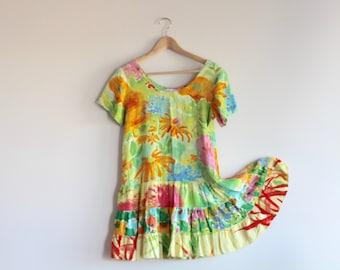 MARRA - robe à fleurs lumineuse