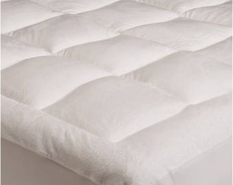 Plush Mattress Topper - With CinchFit Design to Cinch and Stay in Place!