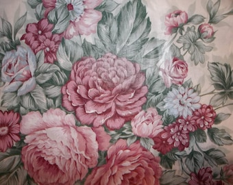 5TH Avenue Designs Floral Preshrunk Upholstery 100% Cotton Fabric #339