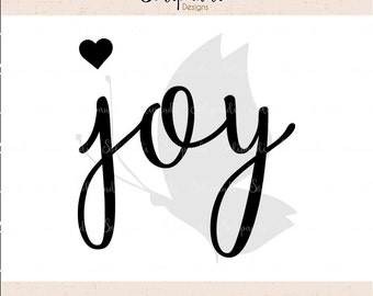 joy - Christmas Handwriting - SVG and DXF Cut Files - for Cricut, Silhouette, Die Cut Machines // scrapbooking // paper crafts // #157