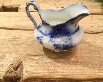 Alfred Meakin Flow Blue Creamer|Kelvin Flow Blue|Vintage Blue and White Creamer|Flow Blue Creamer