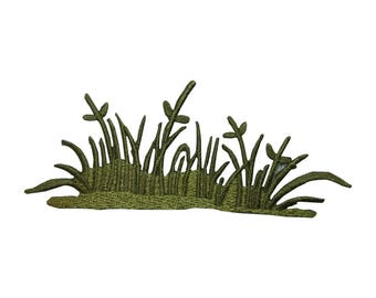 ID 7241 Tall Grass Field Patch Plant Yard Craft Embroidered Iron On Applique