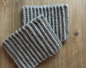 Warm Crocheted Boot Cuffs. Gift for Women. Calf Boot Sizes. Lots of colors available. Made to order