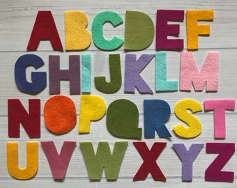 """Wool Felt Letters - 2"""" Alphabet - AMarketCollection Exclusive Alphabet - Use for Banners, Baby Showers - Planners - Pick your Colors"""