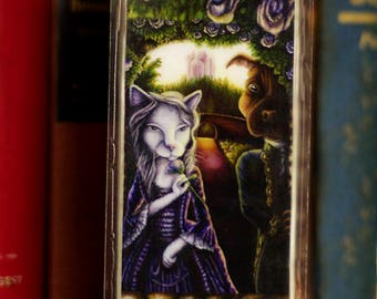 Beauty and Beast Bookmark, Cat and Dog Fairytale Paper Bookmark