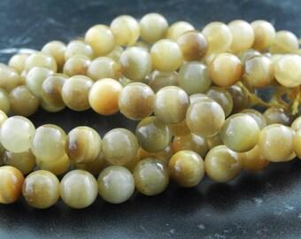 10 AA 8 mm yellow Tiger eye beads