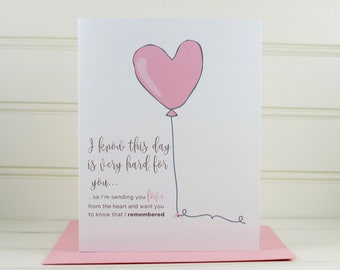 Memorial Anniversary Card, Death Anniversary Card, Sympathy Card, Grief Card, Bereavement Card, Condolence Card, Loss Card,  Memorial Card