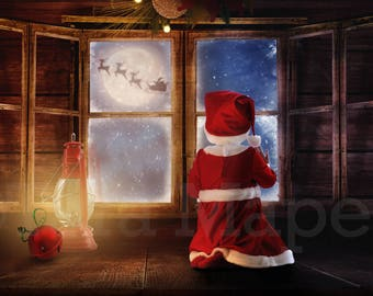 Christmas Window Digital Background