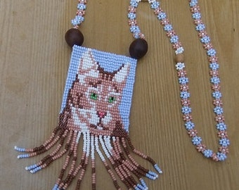 This is a Necklace With a Medallio-My Favorite Pet-Traditional Ukrainian Jewelry