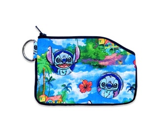 Disney Lilo & Stitch Coin Pouch, Small ID Wallet, Zipper Wallet, Bag Accessory, Vacation ID Wallet