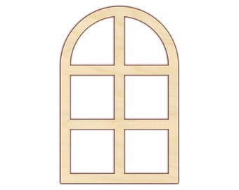 Window - Architectural Wall Decor - Unfinished Wood - 170457