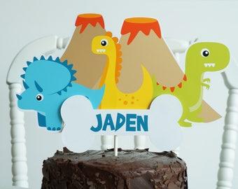 Dinosaur Cake Topper - Dinosaur Birthday Cake Topper - Dino Cake Topper - Dinosaur Birthday - Dinosaur Party - T-Rex