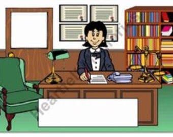 Attorney Personalized Cartoon