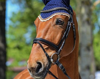 Handmade Horse fly bonnet, horse fly net, horse fly veil