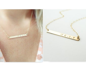 Personalized Necklaces, Name Bar Necklace, Bar Necklaces, Shinny Bar Necklace, Bar Necklace, Gold Name Plate Necklace