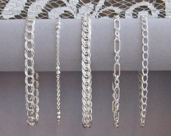 Sterling Silver Mixed Bracelet Set (5) - The Perfect Bridesmaids Gift!