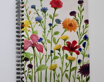 Lined Notebook, Art Print cover, Painting, Flowers