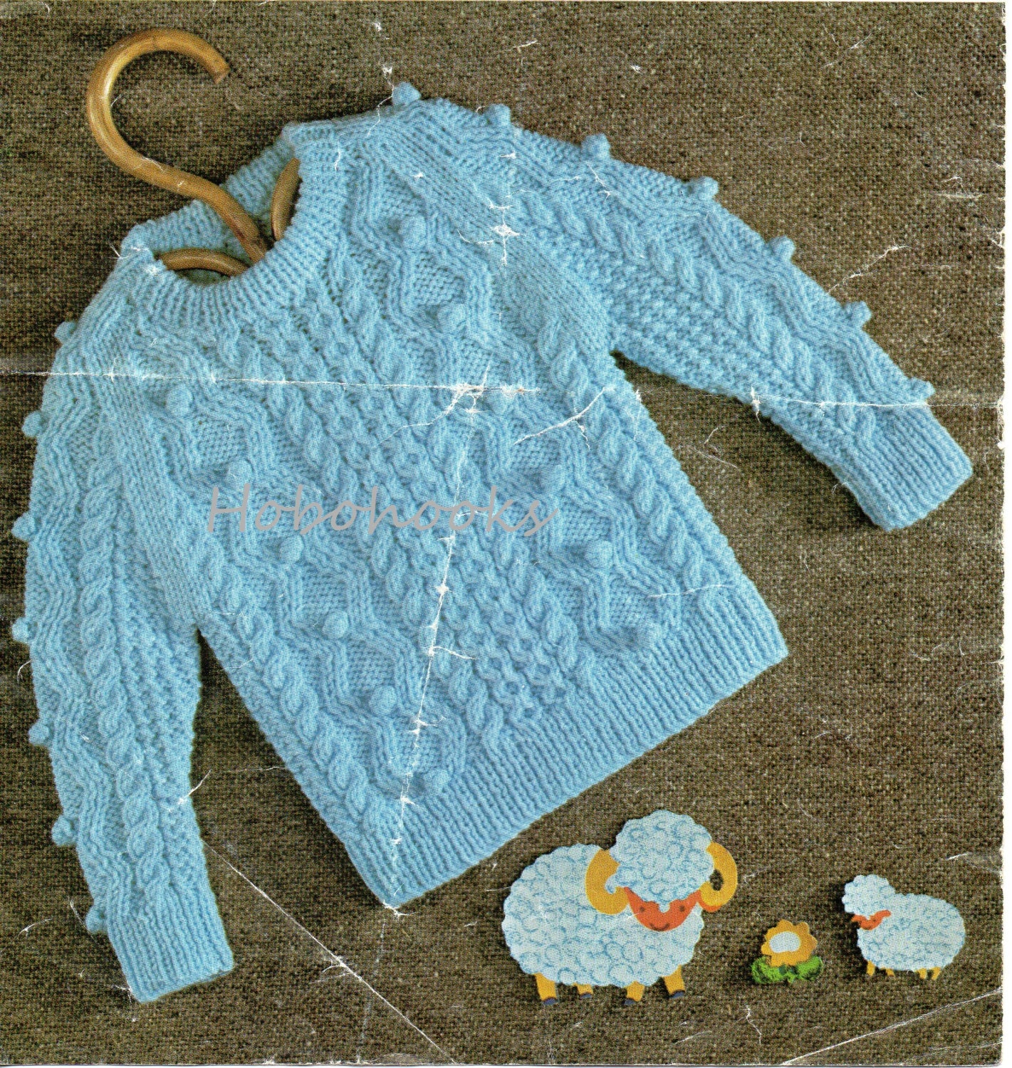 baby toddler childrens bobble & cable sweater knitting pattern 19-26 ...