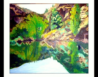 Reflection 2 - Fine Art original oil painting