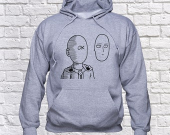 Saitama Ok sweatshirt/ One Punch Man hoodie/ Saitama funny pullover/ Japanese anime/ One-Punch Man/ sweater/ jumper/ hoody/ Oppai/ (B173)