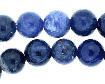Strand of 45 beads round 8mm 8 mm blue Sodalite