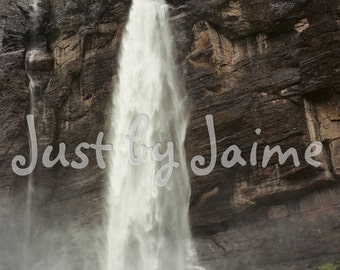 Bridal Veil Falls professionally printed photo -- available in 5x7 or 8x10 (larger sizes by request) -- matte finish