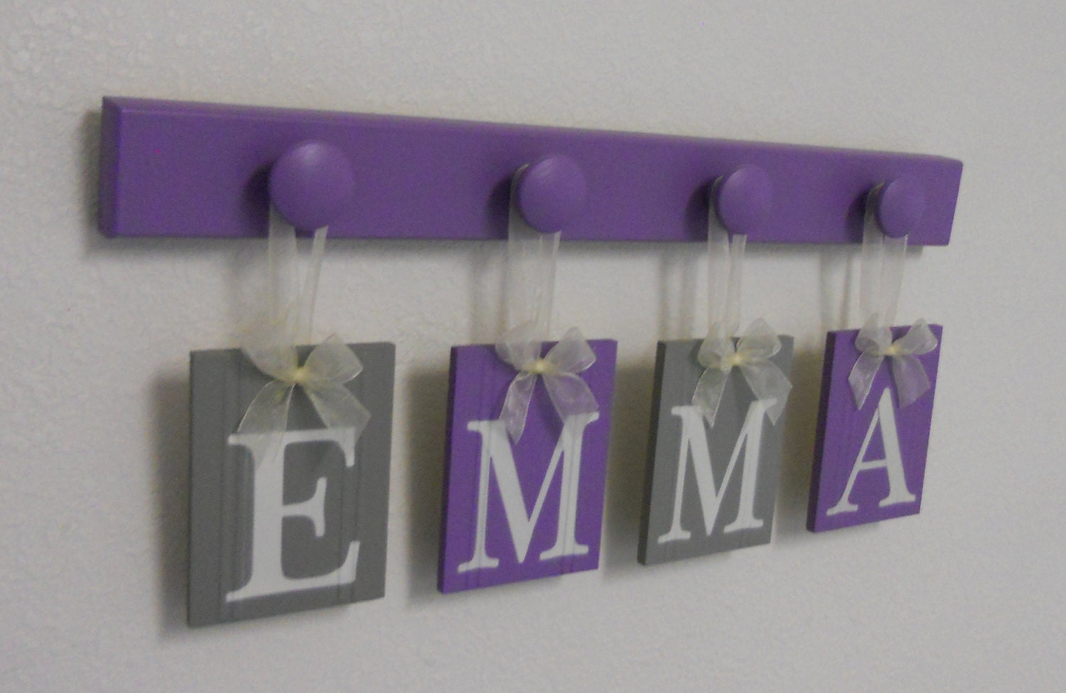Name sign baby girl name purple gray name wood hooks zoom negle Image collections