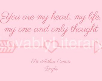 Sir Arthur Conan Doyle Printable Valentines Day Card