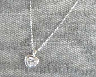 "Silver Choker ""Bright heart"""