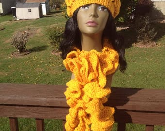 Crochet Tam with Short Spiral Scarf
