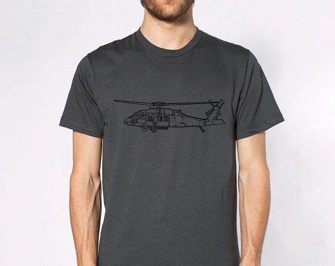 KillerBeeMoto: Sikorsky UH-60 Black Hawk Helicopter Short & Long Sleeve T-Shirt Cartoon Version
