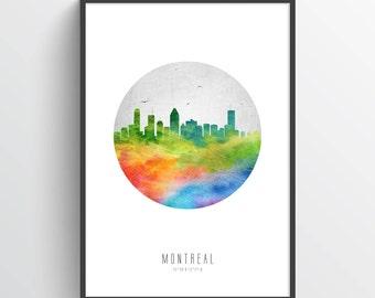 Montreal Poster, Montreal Skyline, Montreal Cityscape, Montreal Print, Montreal Art, Montreal Decor, Home Decor, Gift Idea, CAQCMO20P