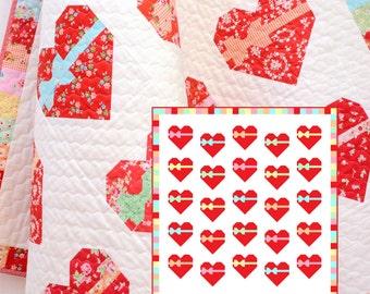PDF Quilt Pattern - Sweetheart