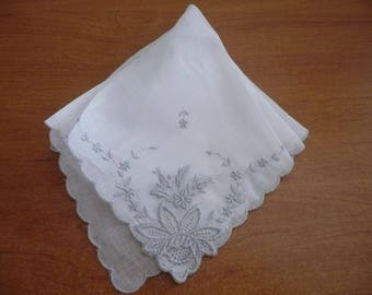 3 hankies, Swiss handkerchiefs unused - new and vintage (1970's) handkerchiefs