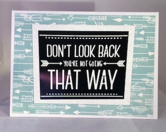 Set of 5 Don't Look Back LIMITED EDITION Encouragement Card
