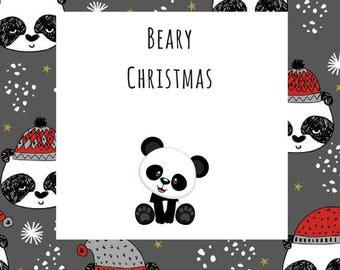 Winter/Christmas Collection Beary Christmas Panda Bear Dog Pet Tie On Bandana Neckerchief