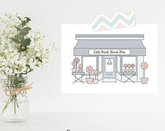 Greeting Card | My Little Town Collection | Little Petals Flower Shop