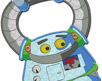 Bib for Baby, Children, Toddler personalized included in the price Organic Cotton Made in Europe (Robot)