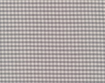 Checks Please in Ash 100% Organic Cotton Yarn Dyed Woven Fabric from Cloud 9