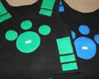 Animal Vest and 5 cards-