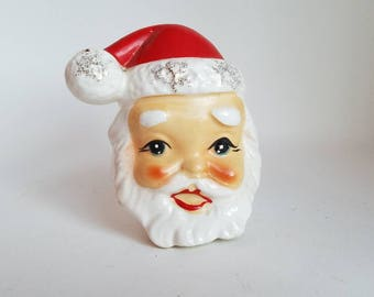 Vintage Santa Claus Head Salt Shaker * 50s * Japan
