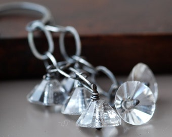 ballerina vintage glass sterling silver earrings
