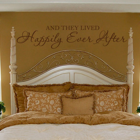 Romantic Wall Decal Bedroom Quote Vinyl Lettering Decor And