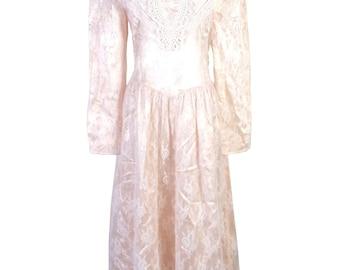 vtg Gunne Sax Jessica McClintock Romantic Renaissance Wedding Dress Victorian 6