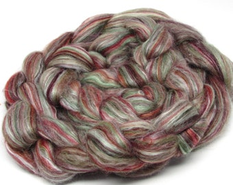 Merino Wool/silk Roving 70/30 4 ounces Autumn #2